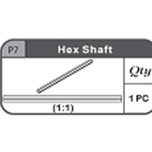 07-67200P7 Hex Shaft