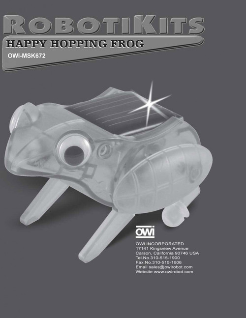 Happy Hopping Frog Manual