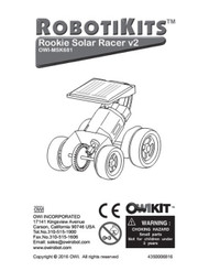 Rookie Solar Racer V2 Manual