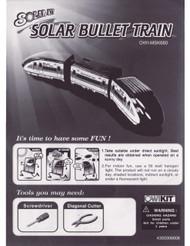 Solar Bullet Train Manual