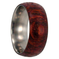 Titanium with Leopardwood Inlay - L139M