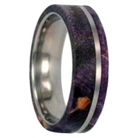 8 mm Titanium with Purple Box Elder Wood Inlay - P164M