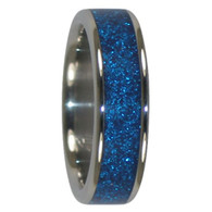 8 mm Blue Metallic Inlay, Titanium - K903H