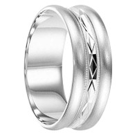 6 mm 10kt. White Gold Handcrafted in U.S. - Omaha-10