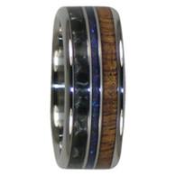 9 mm Australian Opal, KOA Wood, and Black Carbon Fiber, Titanium - A306H