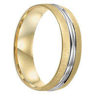 6 mm Mens Wedding Bands in 10 kt Gold - Chicago