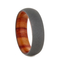 8 mm Titanium Tulip Wood Sleeve and Sandblasted Titanium - TW970M
