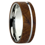 8 mm Exotic Wood in Titanium - K109M-Teak