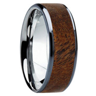 8 mm Unique Bands - Mesquite Wood Inlay - K121M-Mesquite