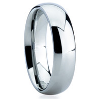 6 mm Domed Tungsten Band, Lifetime Warranty - C002C
