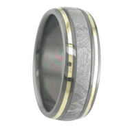8 mm 5-Star Collection, Black Zirconium/Meteorite/Gold - M790FS