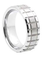 8 mm Matrix Tungsten Band, Lifetime Warranty - N444C