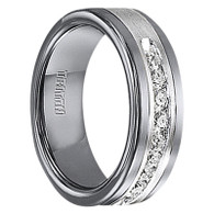 1/2 cwt Genuine Diamond Ring with Sterling Silver - Tungsten - A388C