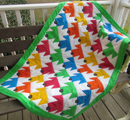 "Picture shows ""Sleepy Puppies"" Baby Quilt ""Sleepy Puppies"" Twin Quilt is in same format except 52 x 82 inches finished size approx,  (and 8 blocks x 13 blocks)"