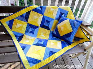 Summer Jewels II Quilt and Pillow