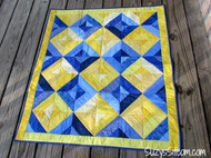 """ Summer Jewels II "" Lap Quilt and Pillow Jelly Roll Kit for Suzy's Sitcom Tutorial Blue and Yellow (34"" x 39"" Finished Size)"