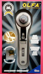 Olfa 45mm Rotary Cutter - 25th Anniversary Edition with free 25 year commemorative pin included