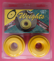 Olfa Fabric Pattern Weights Set of 4  Model OW-1 Diameter 2.75 ins ea