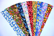 English Country Garden Fabric Jelly Roll 10 Floral Prints 2 Strips of Each Print - Total 20 Strips, 2.5 x 42/44 ins SKU JR210-ECGNgd