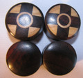 Raintree and crocodile wood Reversible double flare organic gauge ear plugs