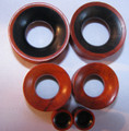 Ebony wood on Redwood REVERSIBLE gauge ear tunnel, earlet, spacer