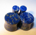 "A grade blue, lapis lazuli, stone plugs - 6g, 4g, 2g, 0g, 00g, 7/16', 1/2"" ear gauges"