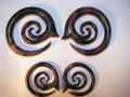INSERO tiger ebony wood ear spiral - 6g through half inch, organic taper gauge plugs