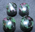 "Ruby in zoisite double flared ear plugs - 6g - 1/2"" green and fushia organic stone gauges"