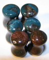 Indian Agate double flare ear gauges - 6g - 00g plug body jewelry