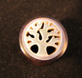 "Tree of Life mother of pearl and areng wood ear gauges 1/2"" - carved, mop flesh tunnels, spacers, earlets"