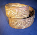 Genuine Borneo bangle bracelet - handmade, decorative metal tribal jewelry