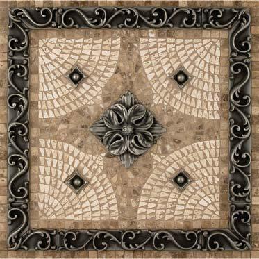 Korina Mosaic Tile Backsplash Medallion 18