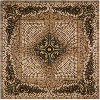 metal mural grand rachel mosaic tile backsplash by landmark metal coat