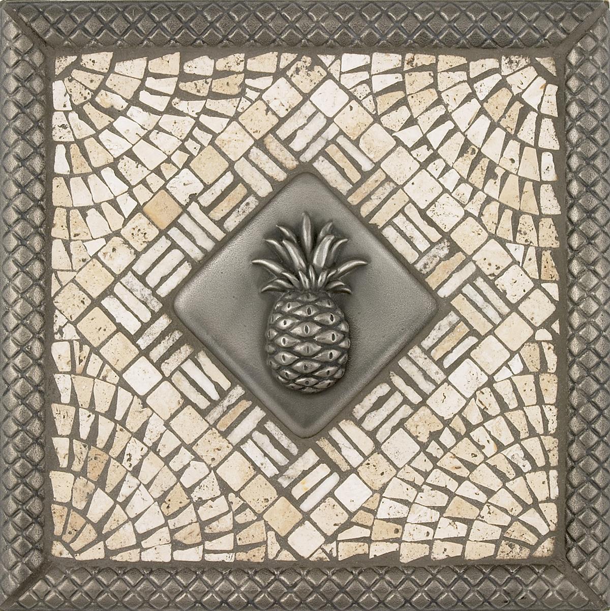 Pineapple Mosaic Tile Backsplash Medallion 12 Inches