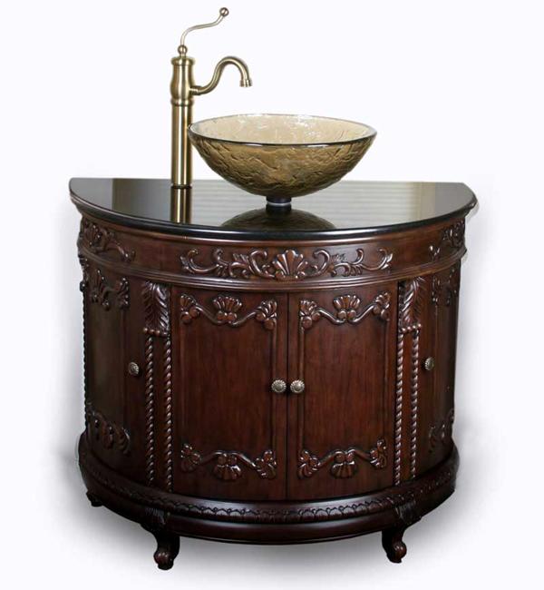Oceana semi circle vanity sink package for Bathroom vanity packages
