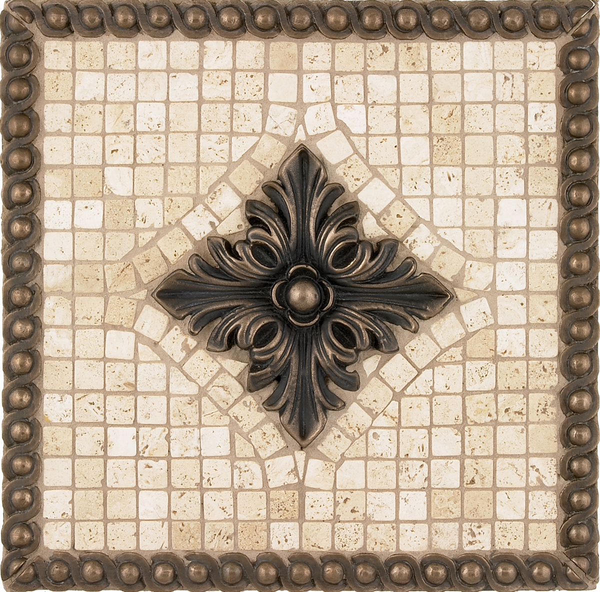 Metal Mural Tribecca Mosaic Tile Backsplash