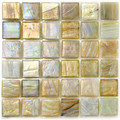 Hakatai Calliope Buttercream 0.625 x 0.625 Glass Mosaic Tile 