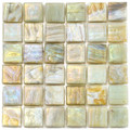 Hakatai Calliope Honeysuckle 0.625 x 0.625 Glass Mosaic Tile