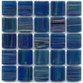 Hakatai aventurine Blue Agate 1x1 glass tile