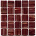 Hakatai aventurine Bordeaux 1x1 glass tile