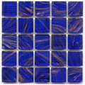 Hakatai aventurine Cobalt 1x1 glass tile