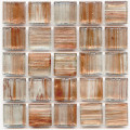 Hakatai aventurine Honey 1x1 glass tile