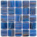Hakatai aventurine Lapis lazuli 1x1 glass tile