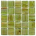 Hakatai aventurine  Peridot 1x1 glass tile