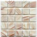 Hakatai aventurine White Alder 1x1 glass tile