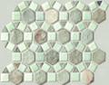 Spanish Moss pin wheel slate mosaic