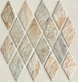 Desert sage Harlequin slate mosaic