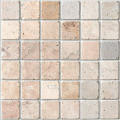 2x2 San Cristo travertine mosaic