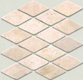 Harlequin San Cristo travertine mosaic