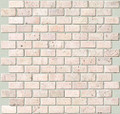 Brick pattern San Cristo travertine mosaic